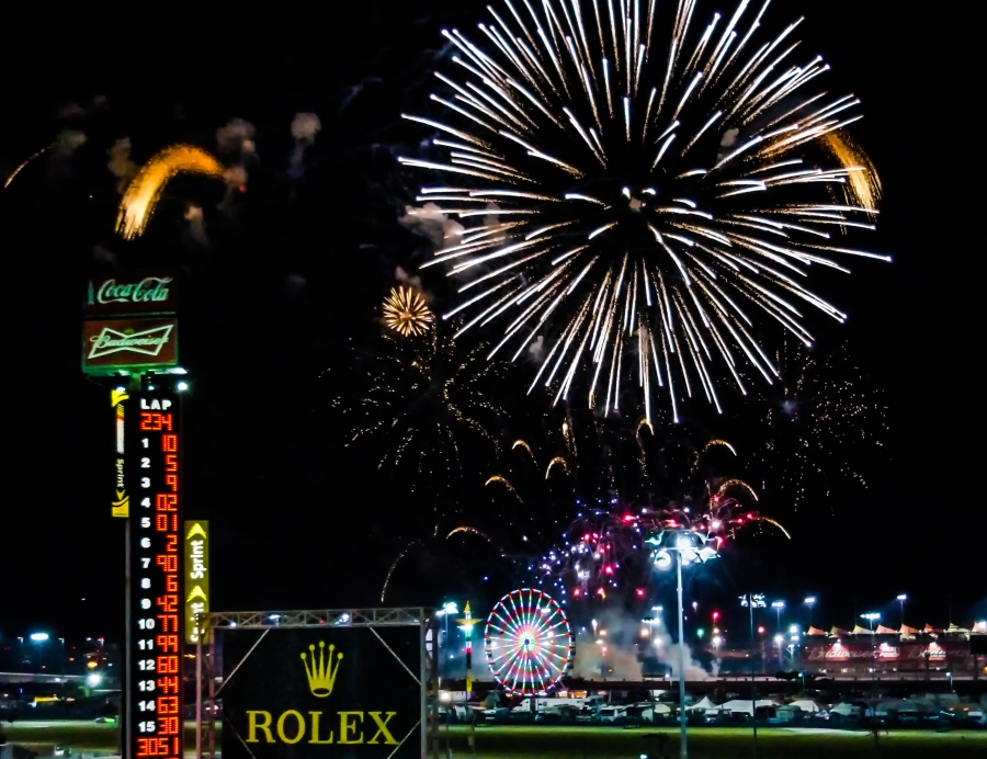 Fireworks at the Rolex 24 -  Daytona International Speedway (2013)