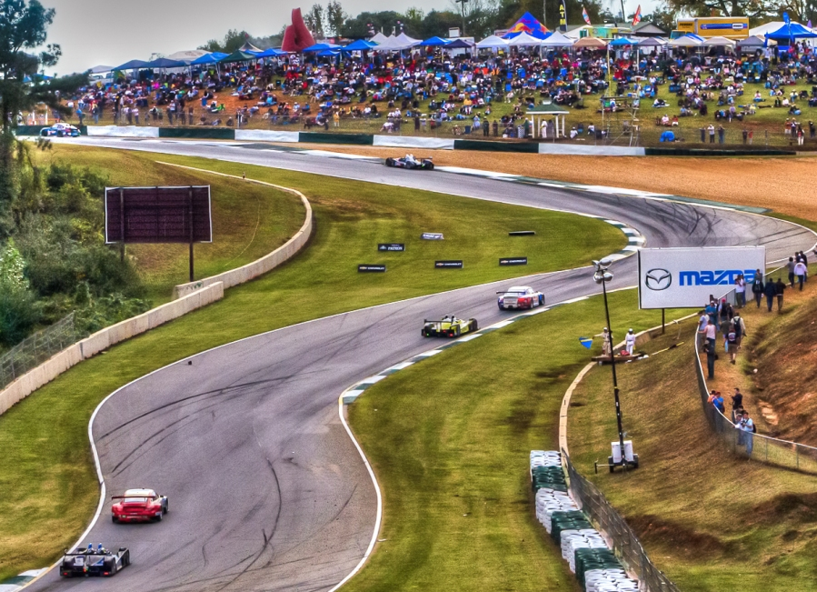Turn 5 at Road Atlanta during the Petit Le mans (2012).